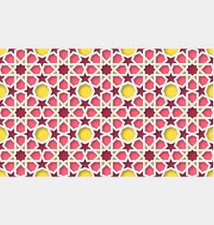 3d arabic background islamic geometric pattern vector image
