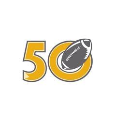 50 Pro Football Championship Ball vector image
