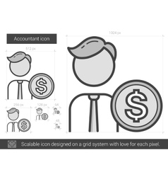 Accountant line icon vector image