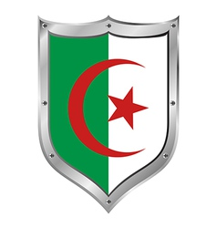 Algeria flag button vector