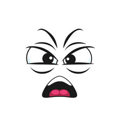 Angry shouting emoticon isolated screaming emoji vector