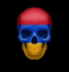 Armenian flag skull vector