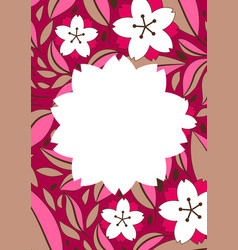 background with sakura or cherry blossom vector image
