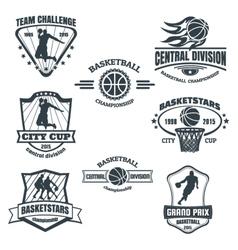 Basketball emblems vector image