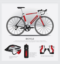 Bicycle with accessory vector