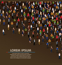 big people crowd on dark background vector image