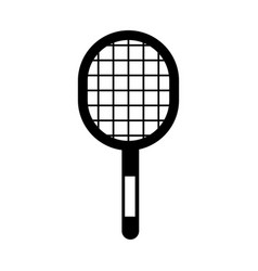 Black icon sport racket vector