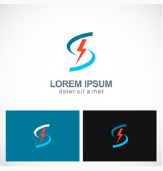 Bolt letter s power technology logo vector