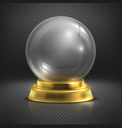 Boule glass empty magic ball snow globe vector