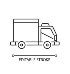 Cargo taxi linear icon vector
