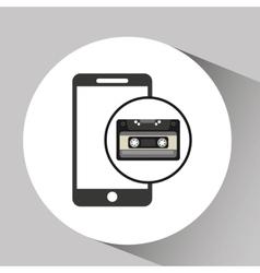 Cassette vintage smartphone style hipster vector