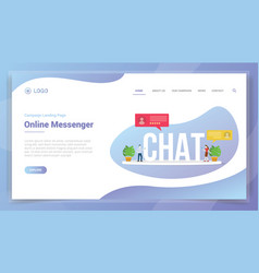 Chat online messaging concept for website vector