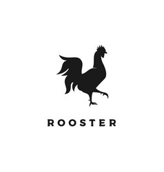 chicken rooster silhouette icon logo design vector image