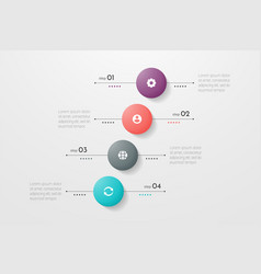 Circle infographic concept design with 4 options vector