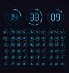 Clock showing minutes vector