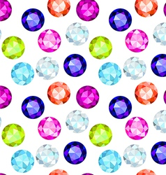 colored gemstone seamless pattern vector image