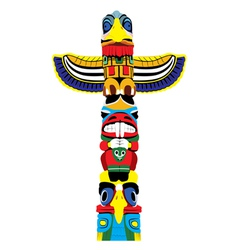 Colorful totem pole vector