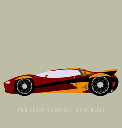 Competition street supercar vector