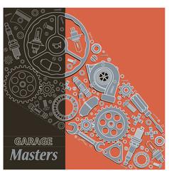 composition car parts vector image