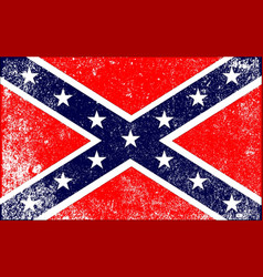 Confederate civil war flag vector
