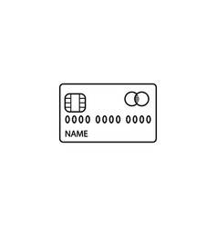 credit card line icon cash withdrawal and payment vector image