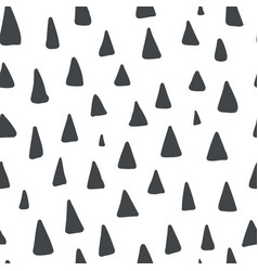cute pattern with black hand drawn triangles vector image