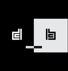 dc - logotype design element or icon d and c bc vector image