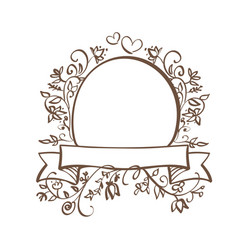 decorative frame and borders art with place for vector image