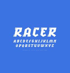 Decorative italic slab serif font vector