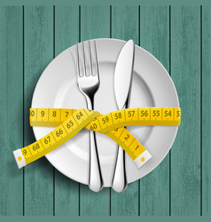 Dieting and healthy lifestyle vector