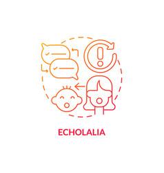 Echolalia concept icon vector