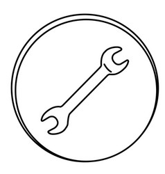 Figure wrench emblem icon vector