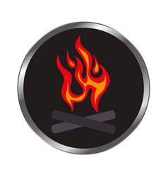 fire flame signal icon vector image