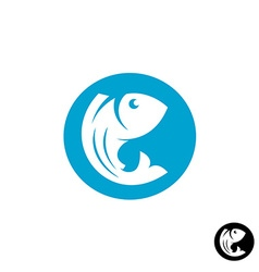 Fish round logo vector image vector image
