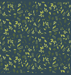 foliage seamless pattern with plants and leaves vector image