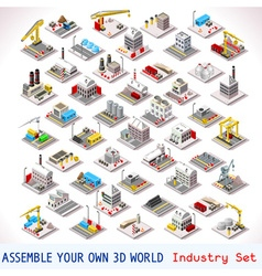 Game Set 06 Building Isometric vector image