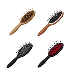 Hairbrush Set vector image