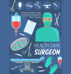 Health care and surgeon doctor vector