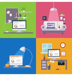 Home Office Set vector