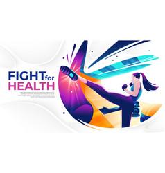 kick boxing art vector image