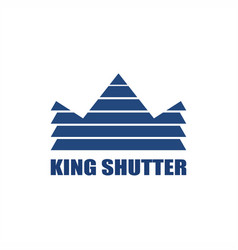 king shutter window logo vector image
