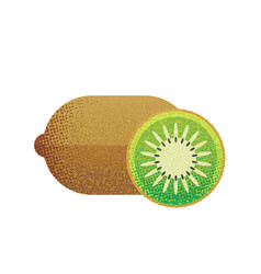 kiwi fruit on white background in flat style vector image