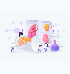 Lab-grown organs concept vector