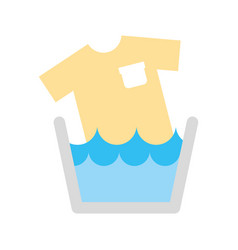 Laundry tank with shirt vector
