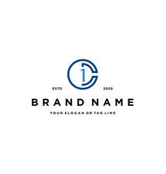 Letter c1 logo icon design vector