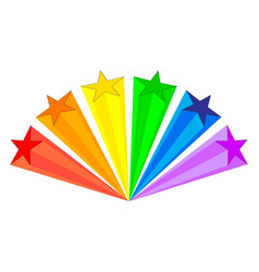 Lgbt color stars vector