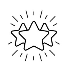 line stars outline icon feedback rating concept vector image