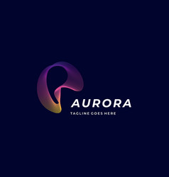 Logo aurora gradient colorful vector