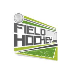 Logo field hockey vector