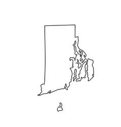map us state rhode island vector image
